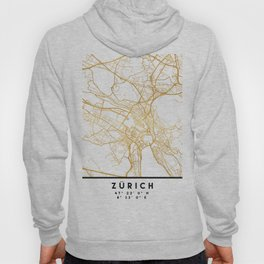 ZÜRICH SWITZERLAND CITY STREET MAP ART Hoody