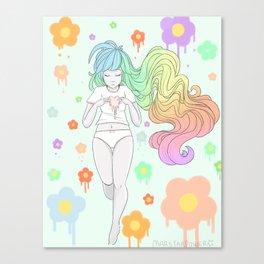 Rainbow Melt Canvas Print