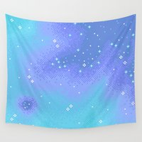 8bit Wall Tapestries featuring Twilight Nebula (8bit) by Sarajea