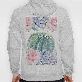 Cactus Rose Succulents Garden Hoody