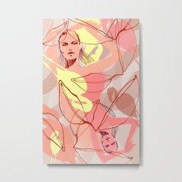 Flaming O's Metal Print