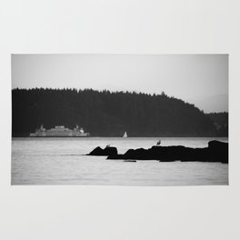 Ferry at the San Juan Islands Rug