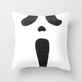 Classic Scary Face Throw Pillow