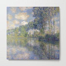 1891-Claude Monet-Poplars-74 x 93 Metal Print