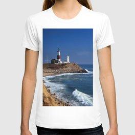 Crispy Morning at Montauk Point Lighthouse Long Island New York T-shirt