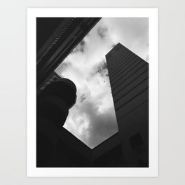 Soaring heights || black and white architecture photography || SINGAPORE Art Print
