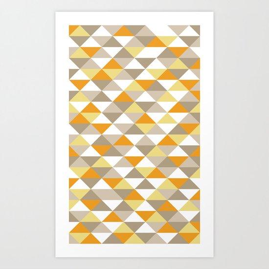 Triangle Pattern #1 Art Print