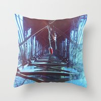 tangled Throw Pillows featuring Tangled by Shelly Navarre