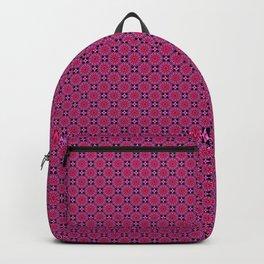 Medallion Pattern Magenta Backpack