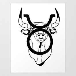 Taurus, the Bull Art Print