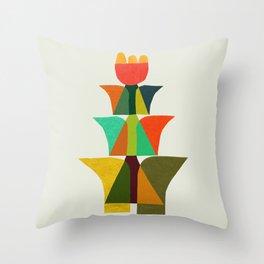 Whimsical bromeliad Throw Pillow