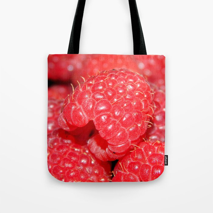 Red Raspberries Freshly Picked Tote Bag