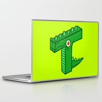 t rex Laptop & iPad Skins featuring T-Rex by Artistic Dyslexia