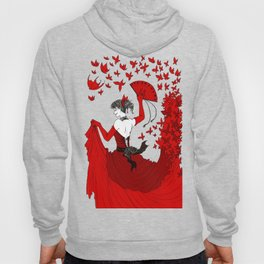 Red Butterfly Witch Hoody