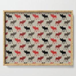 Bull Moose Pattern Serving Tray
