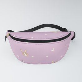 Space Bunnies Heads 2 - Purple Fanny Pack