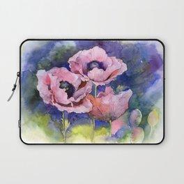 Watercolor Poppies Flowers Art Laptop Sleeve