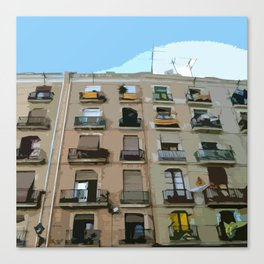 Barcelona Building  Canvas Print