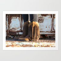 Fringe is my friend Art Print