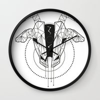 capricorn Wall Clocks featuring Capricorn by LydiaS