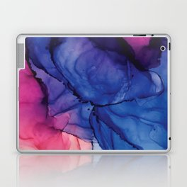 Pondering- Blue and Blush- Alcohol Ink Painting Laptop & iPad Skin