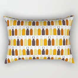 Vintage Beer Bottles Rectangular Pillow