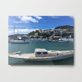 Old Wooden Boat Metal Print
