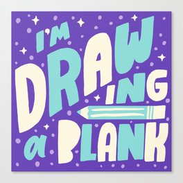 Drawing a Blank Canvas Print