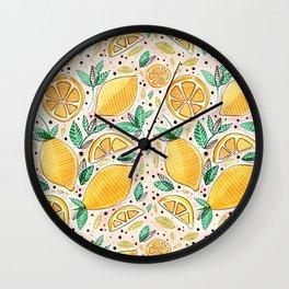 Lemon Squeeze Wall Clock
