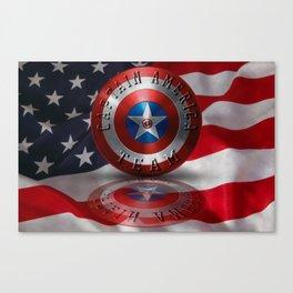 Team Typography USA Flag USA Symbol Canvas Print