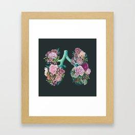 Floral Lungs Framed Art Print