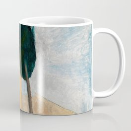 "Amedeo Modigliani ""Cypresses and Houses at Cagnes (Cyprès et maisons à Cagnes)"" Coffee Mug"