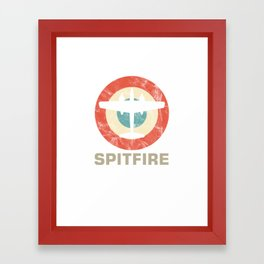 Spitfire Retro Vintage Jet Fighter Shooting Plane Aircraft Airplanes Air Vehicle Pilot Gift Framed Art Print