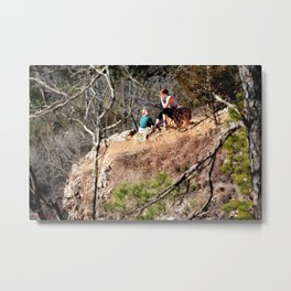 Climbing Up Sparrowhawk Mountain above the Illinois River, No. 8 of 8 Metal Print