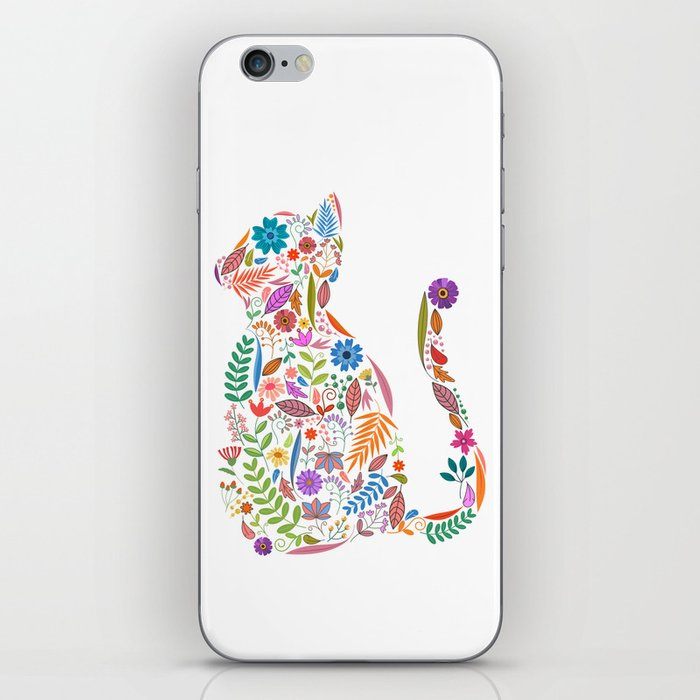 Fancy And Fine Flowered Cat Garden Design iPhone Skin