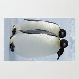 Emperor Penguins Huddled Rug