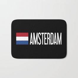 Netherlands: Dutch Flag & Amsterdam Bath Mat