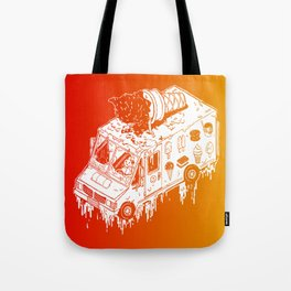 Melty Ice Cream Truck - sherbet Tote Bag