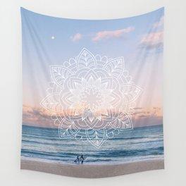 Twilight surf mandala Wall Tapestry