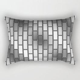 BRICK WALL #2 (Grays & White) Rectangular Pillow