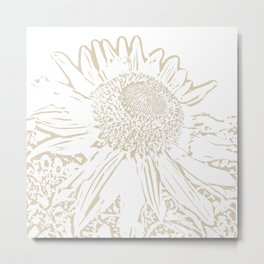 Sunflower nice yellow Metal Print