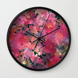 Red Rose Garden Wall Clock