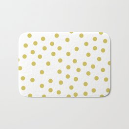 Simply Dots in Mod Yellow on White Bath Mat