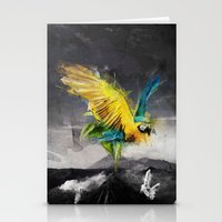 parrot Stationery Cards featuring Parrot by Elias Klingén