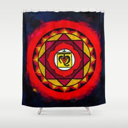 Indian Style Ohm Mandala of Vibrant Color Shower Curtain
