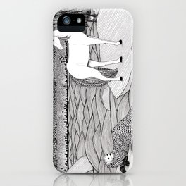 A Meeting by the Water--B&W iPhone Case
