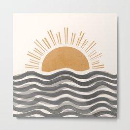 Waft Sun-Grey Metal Print