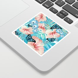 Tropical Spring Aqua Sticker