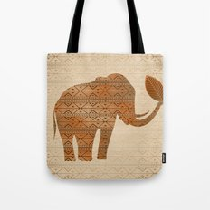 Elephant Tribal Art Design Tote Bag