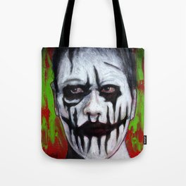 Portrait - Face Painted Ghoul Tote Bag